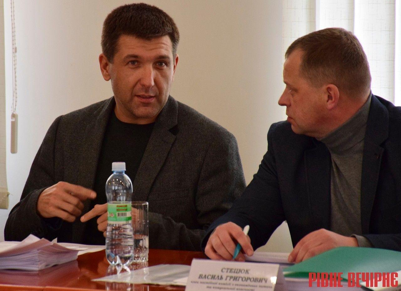 Депутати Михайло Кириллов та Василь Стецюк
