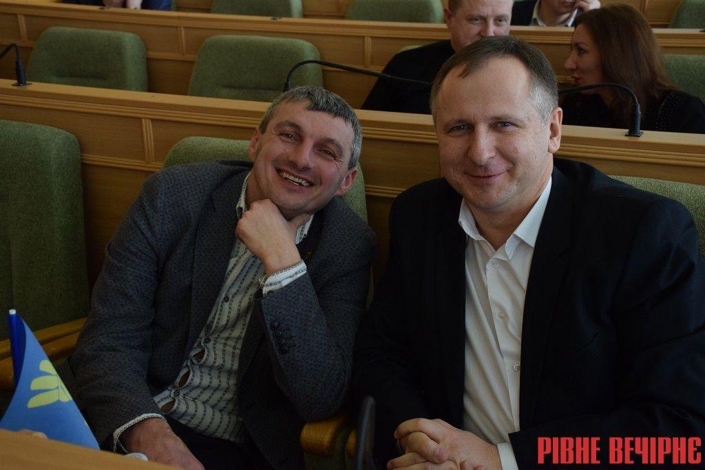Свободівці Володимир Валявка (обласний депутат) та Юрій Осіпчук (міський депутат)