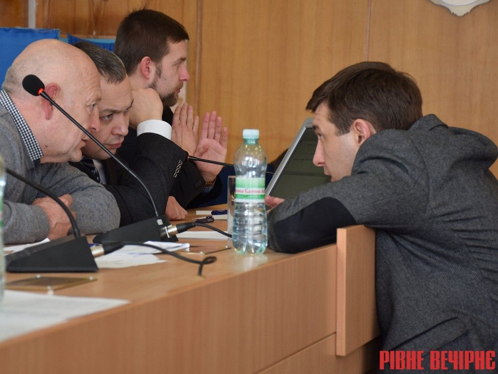 Голова облради Олександр Данильчук, голова ОДА Олексій Муляренко та депутат і колишній голова облради Михайло Кириллов