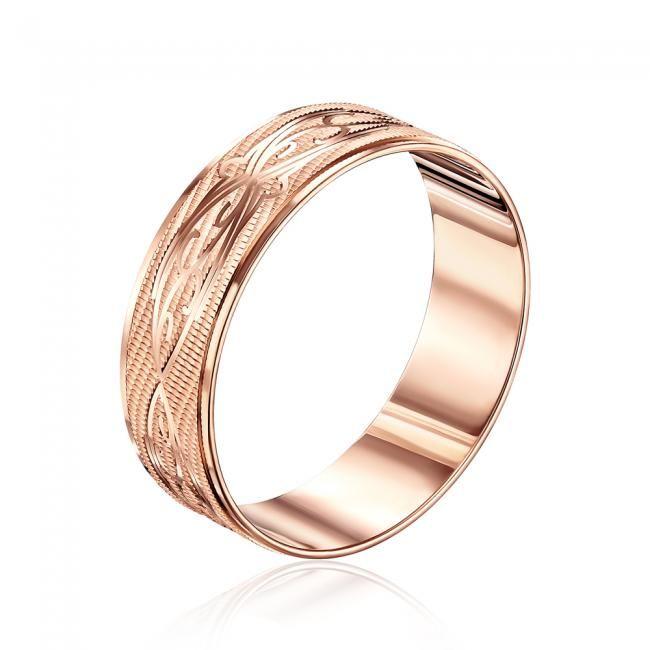 Обручальное кольцо с алмазной гранью